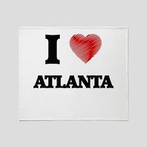 I Heart ATLANTA Throw Blanket