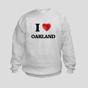 I Heart OAKLAND Kids Sweatshirt