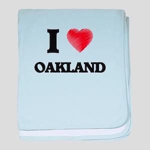 I Heart OAKLAND baby blanket