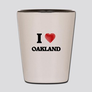 I Heart OAKLAND Shot Glass