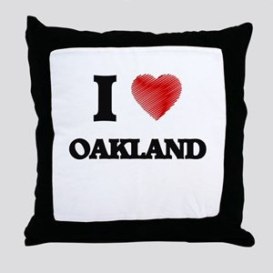 I Heart OAKLAND Throw Pillow