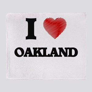 I Heart OAKLAND Throw Blanket