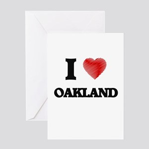 I Heart OAKLAND Greeting Cards