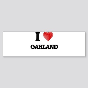I Heart OAKLAND Bumper Sticker