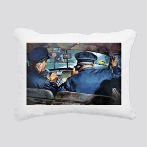 Vintage Police Rectangular Canvas Pillow