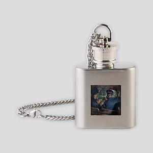 Vintage Police Flask Necklace