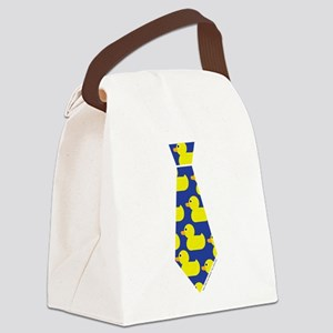 Ducky Tie Canvas Lunch Bag