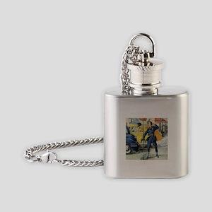 Vintage Traffic Cop Flask Necklace