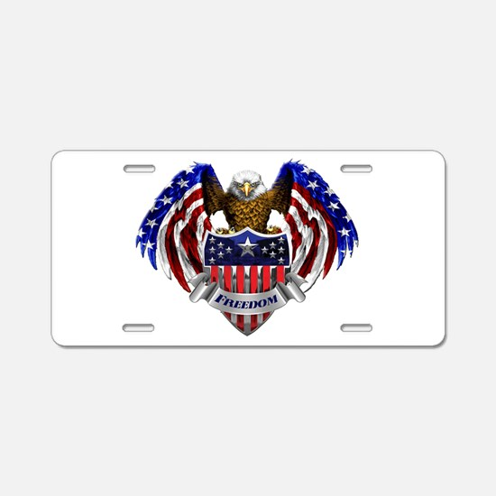 Unique God bless america Aluminum License Plate
