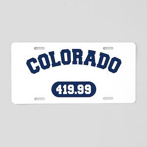 Colorado Mile Team Aluminum License Plate