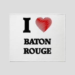 I Heart BATON ROUGE Throw Blanket