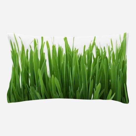 Fresh green grass on white backround- Pillow Case