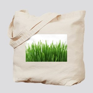 Fresh green grass on white backround- pho Tote Bag