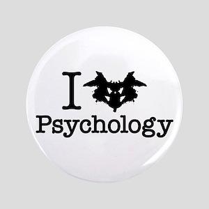I Heart (Rorschach Inkblot) Psychology Button
