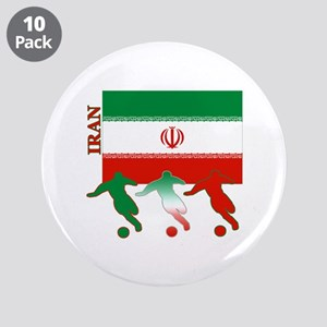 "Iran Soccer 3.5"" Button (10 pack)"