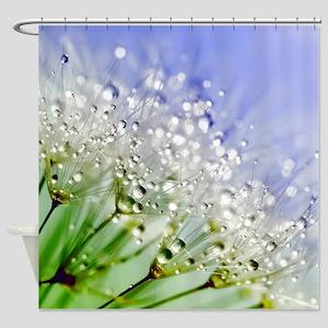 Sparkling Dandelion Shower Curtain