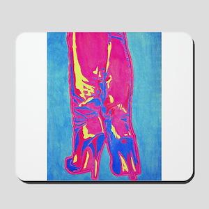 tropic neon boots Mousepad