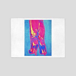 tropic neon boots 5'x7'Area Rug