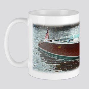 Antique Wooden Boat Mug