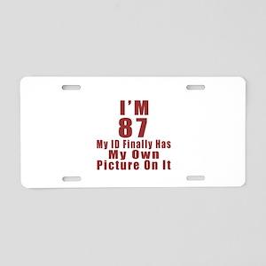 I'm 87 My Id Finally Has My Aluminum License Plate