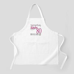 80th Birthday Gift BBQ Apron
