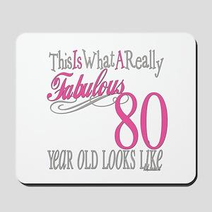 80th Birthday Gift Mousepad