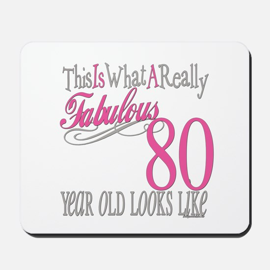 80th Birthday Gift Mousepad