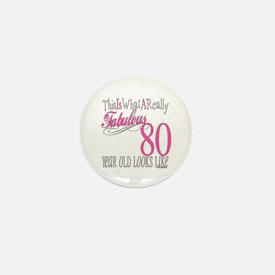 80th Birthday Gift Mini Button