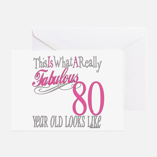 80th Birthday Gift Greeting Card