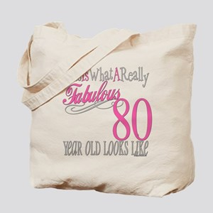 80th Birthday Gift Tote Bag