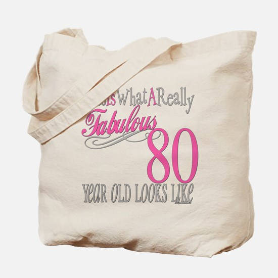 80th Birthday Gift Tote Bag