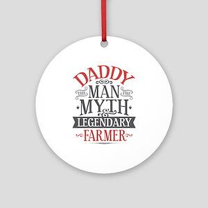 Farmer Dad Round Ornament