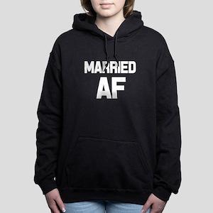 Married AF funny women's Women's Hooded Sweatshirt