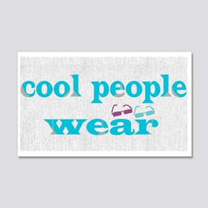 Cool People Wear Wall Decal