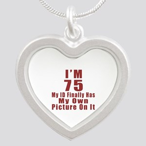I'm 75 My Id Finally Has My Silver Heart Necklace