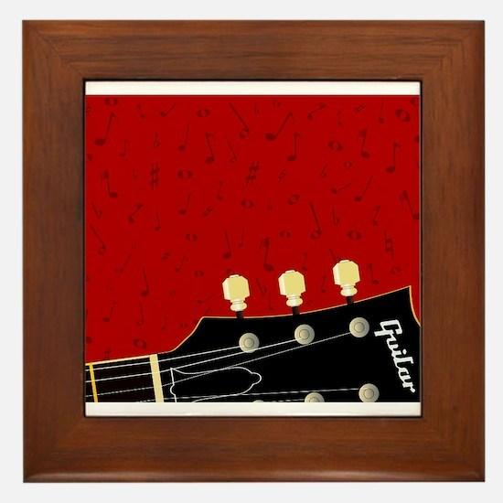 Love Guitar Framed Tile