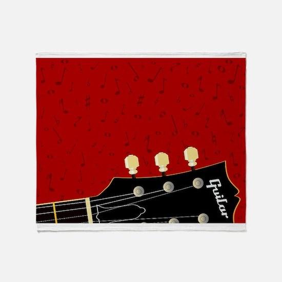 Love Guitar Throw Blanket