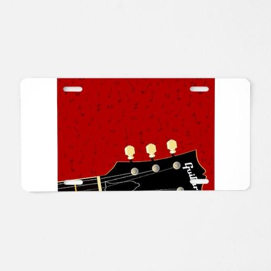 Love Guitar Aluminum License Plate