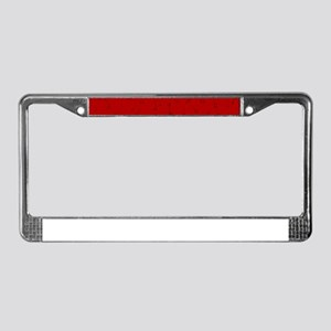 Maroon Music Background License Plate Frame