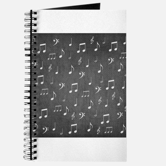 music notes and sign into a modern trendy Journal