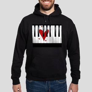 Love Piano Hoodie (dark)