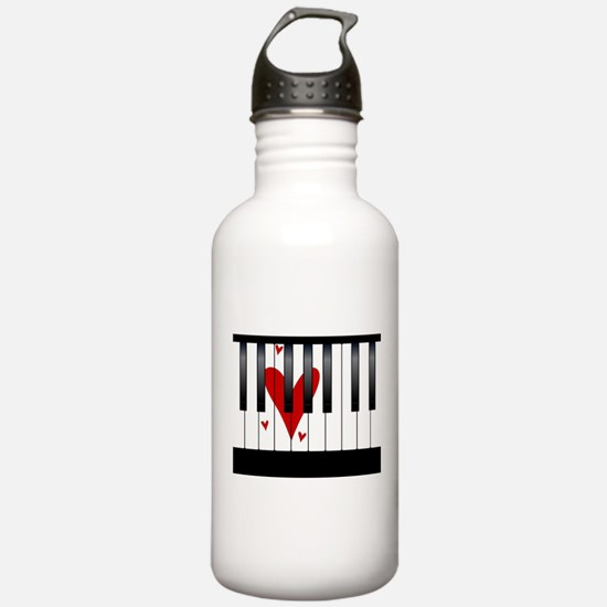 Love Piano Water Bottle