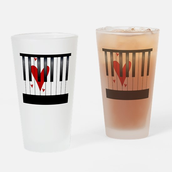 Love Piano Drinking Glass