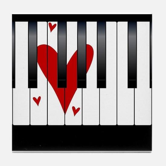 Love Piano Tile Coaster