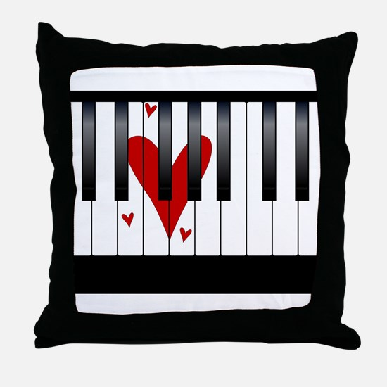 Love Piano Throw Pillow