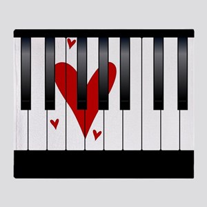 Love Piano Throw Blanket