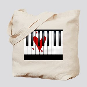 Love Piano Tote Bag