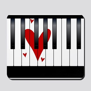 Love Piano Mousepad