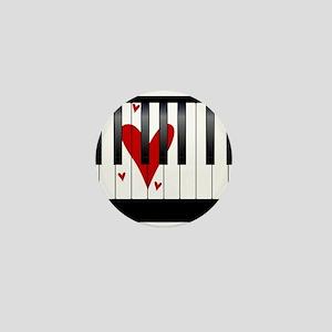 Love Piano Mini Button