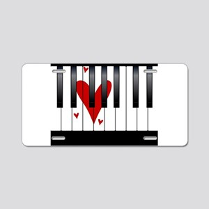 Love Piano Aluminum License Plate